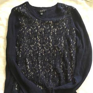 Vera Wang lace sweater Large